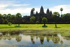 Ναός Wat Angkor. Καμπότζη Στοκ φωτογραφία με δικαίωμα ελεύθερης χρήσης