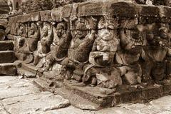 Ναός Wat Angkor, λεπτομέρεια των προσώπων και των οργανισμών στοκ φωτογραφία με δικαίωμα ελεύθερης χρήσης
