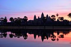 Ναός Wat Angkor στην ανατολή, ναοί Angkor, Καμπότζη Στοκ Εικόνες