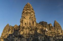 Ναός Wat Angkor το καυτό ηλιόλουστο πρωί Στοκ φωτογραφία με δικαίωμα ελεύθερης χρήσης