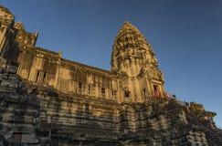 Ναός Wat Angkor το καυτό ηλιόλουστο πρωί Στοκ εικόνες με δικαίωμα ελεύθερης χρήσης
