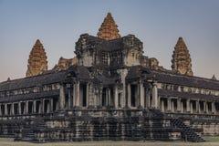 Ναός Wat Angkor το καυτό ηλιόλουστο πρωί Στοκ φωτογραφίες με δικαίωμα ελεύθερης χρήσης