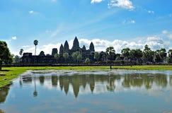 Ναός Wat Angkor Στοκ Φωτογραφίες