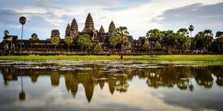 Ναός Wat Angkor, SiemRiep, Καμπότζη Στοκ Φωτογραφίες
