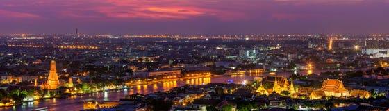 Ναός Wat Arun άποψης πανοράματος Στοκ φωτογραφία με δικαίωμα ελεύθερης χρήσης