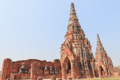 Ναός Wat Chaiwatthanaram Στοκ φωτογραφία με δικαίωμα ελεύθερης χρήσης