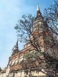 Ναός Yai Chaimongkol Wat στο ayutthaya Στοκ Φωτογραφία