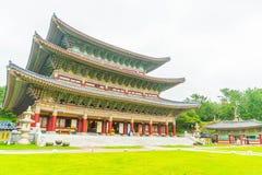 Ναός Yakcheonsa στο νησί Jeju, Νότια Κορέα Στοκ Εικόνα