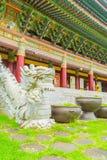 Ναός Yakcheonsa στο νησί Jeju, Νότια Κορέα Στοκ Εικόνες