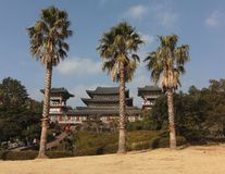 Ναός Yakchunsa βουδισμού στο νησί Jeju στοκ εικόνες