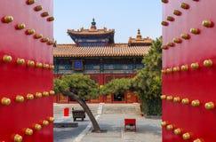 Ναός Yonghe λάμα στο Πεκίνο Κίνα στοκ εικόνα με δικαίωμα ελεύθερης χρήσης