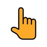 Να αγγίξει ή υπόδειξη του επίπεδου εικονιδίου χεριών επίσης corel σύρετε το διάνυσμα απεικόνισης Στοκ Εικόνες