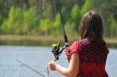 να αλιεύσει έξω εκεί στοκ εικόνες