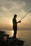 να αλιεύσει αργά Στοκ Εικόνες