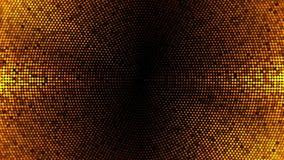 Να αναβοσβήσει υπόβαθρο βρόχων κύκλων πινάκων φω'των Χρυσή έκδοση με τις λάμψεις και τα κύματα ελεύθερη απεικόνιση δικαιώματος