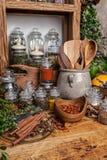 να αναπτύξει τροφίμων βασιλικού καρύκευμα συστατικών χορταριών Στοκ Φωτογραφία
