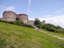 Να ανατρέξει στη κυρία είσοδος Beeston Castle στοκ εικόνες