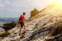 Να ανεβεί τύπων στο βουνό Στοκ φωτογραφίες με δικαίωμα ελεύθερης χρήσης
