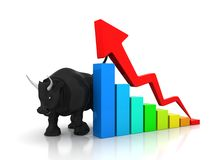 Να ανεβεί χρηματιστηρίου, ευημερία, αγορά ταύρων διανυσματική απεικόνιση