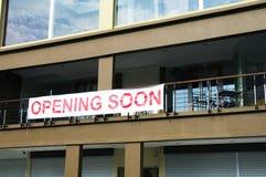 να ανοίξει σύντομα Στοκ Φωτογραφία