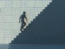 Να αυξηθεί επάνω στη σκιά σκαλοπατιών απεικόνιση αποθεμάτων