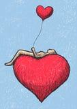 Να βρεθεί επάνω από την καρδιά Στοκ Εικόνες