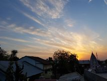 Να γοητεύσει ηλιοβασίλεμα Στοκ εικόνα με δικαίωμα ελεύθερης χρήσης