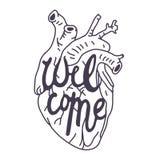 Να γράψει Καλώς ήρθατε Στοκ Εικόνα