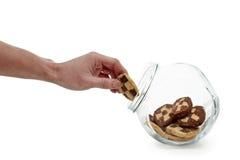 Να γλιστρήσει ένα μπισκότο Στοκ φωτογραφία με δικαίωμα ελεύθερης χρήσης