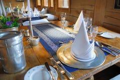 να δειπνήσει καθορισμέν&omicro Στοκ Φωτογραφία