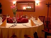 να δειπνήσει κόκκινο δωμά&ta Στοκ Φωτογραφία