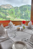να δειπνήσει λεπτός πίνακας εστιατορίων Στοκ Φωτογραφία