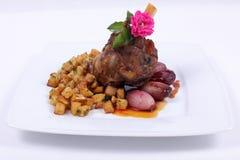 να δειπνήσει λεπτό πιάτο γ&ep Στοκ Εικόνες