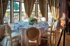 Να δειπνήσει πίνακας σε Casa Loma Τορόντο Στοκ Φωτογραφία
