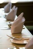 να δειπνήσει πίνακας τιμής τών παραμέτρων Στοκ Φωτογραφίες