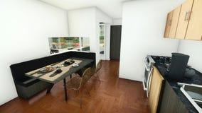 Να δειπνήσει περιοχή στη μικρή κουζίνα Στοκ φωτογραφίες με δικαίωμα ελεύθερης χρήσης