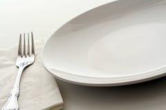 να δειπνήσει πιάτο Στοκ Φωτογραφίες
