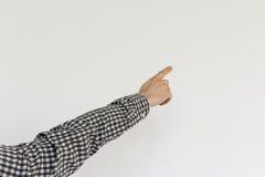 Να δείξει επάνω το αρσενικό χέρι Στοκ εικόνα με δικαίωμα ελεύθερης χρήσης