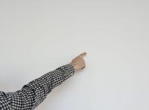 Να δείξει επάνω το αρσενικό χέρι Στοκ φωτογραφία με δικαίωμα ελεύθερης χρήσης