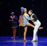 Να είστε λάκτισμα ο δίκρανο-αναδρομικός ο χορός-παγκόσμιος χορός της Αυστρίας Στοκ φωτογραφία με δικαίωμα ελεύθερης χρήσης