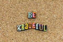Να είστε ευγνώμων ευτυχής ημέρα των ευχαριστιών στοκ εικόνα με δικαίωμα ελεύθερης χρήσης