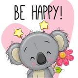 Να είστε ευτυχής ευχετήρια κάρτα με Koala ελεύθερη απεικόνιση δικαιώματος