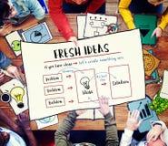 Να είστε δημιουργική φρέσκια έννοια καινοτομίας λύσης ιδεών Στοκ φωτογραφία με δικαίωμα ελεύθερης χρήσης