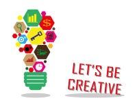 Να είστε δημιουργικός Στοκ Εικόνες