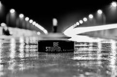 Να είστε ηλίθιος Στοκ εικόνες με δικαίωμα ελεύθερης χρήσης