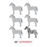 Να είστε διαφορετικό διάνυσμα - με ραβδώσεις και άλογα Στοκ φωτογραφίες με δικαίωμα ελεύθερης χρήσης