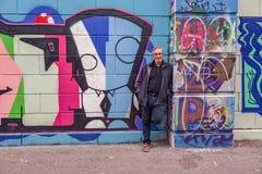 Να είστε μέρος της δημιουργικής σύγχρονης τέχνης στη Βιέννη στοκ φωτογραφία