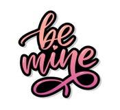 Να είστε ορυχείο και η αγάπη μου ( Σύγχρονο σχέδιο για την τυπωμένη ύλη, αφίσα, κάρτα, σύνθημα διανυσματική απεικόνιση