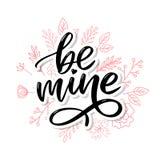 Να είστε ορυχείο και η αγάπη μου ( Σύγχρονο σχέδιο για την τυπωμένη ύλη, αφίσα, κάρτα, σύνθημα απεικόνιση αποθεμάτων