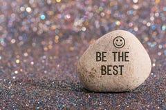 Να είστε το καλύτερο στην πέτρα Στοκ Εικόνα